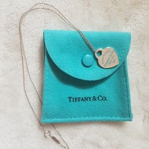 Tiffany and Co. Sterling Silver Blue Heart Pendant